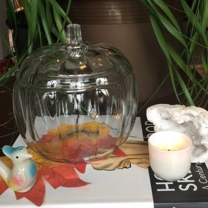 Other - GLASS PUMPKIN CANDY DISH